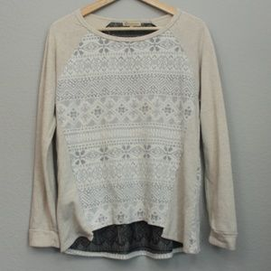 Democracy Cream Snowflake Sweatshirt